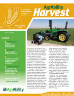 AgrAbility Harvest Newsletter cover