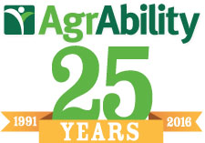 AgrAbility: 25 Years, 25 Stories logo