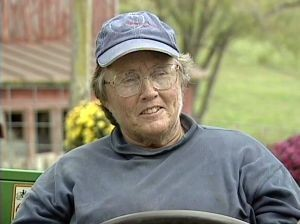 Photo of Mary Dunn sitting in utility vehicle