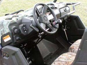 Hand controls (knob and shafts) on utility vehicle